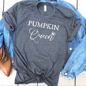 Pumpkin Queen tee heather grey graphic t-shirt top